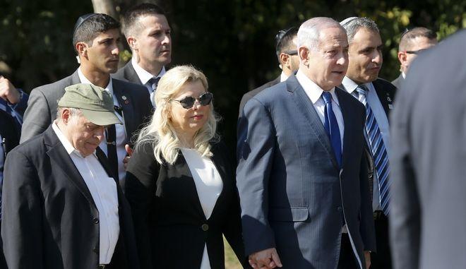 Ο Ισραηλινός πρωθυπουργός, Σάρα Νετανιάχου με τη σύζυγό του