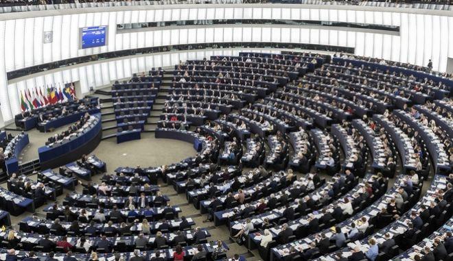 Στιγμιότυπο από συνεδρίαση του Ευρωπαϊκού Κοινοβουλίου