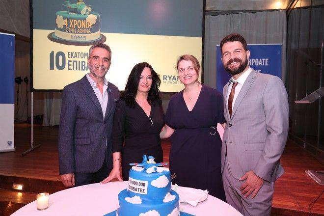 Η Ryanair γιόρτασε τα 4 χρόνια παρουσίας στο αεροδρόμιο της Αθήνας