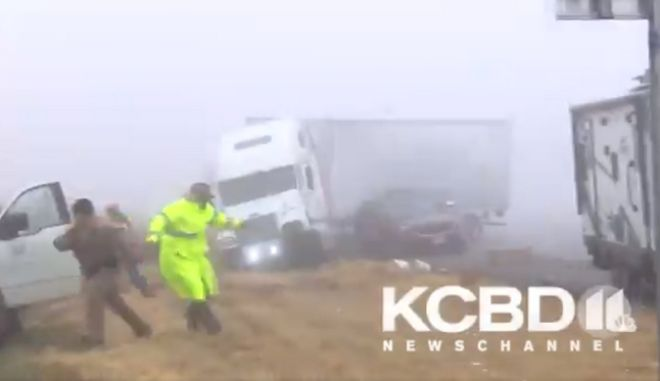 Τέξας: Σοκαριστικό τροχαίο στην ομίχλη, σε live μετάδοση