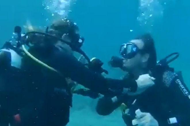 Αλόννησος: Υποβρύχια πρόταση γάμου