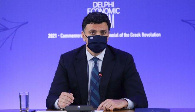Ο υπουργός Υγείας, Βασίλης Κικίλιας στο Οικονομικό  Φόρουμ Δελφών
