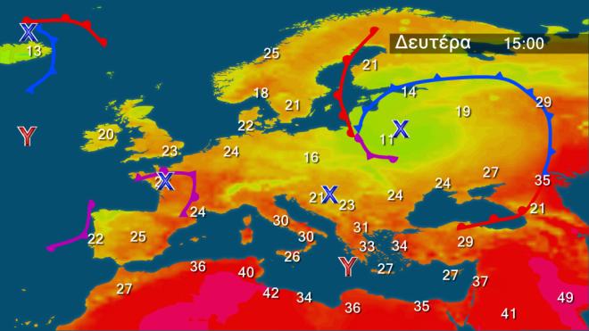 Γενικά αίθριος καιρός-Βαθμιαία άνοδος θερμοκρασίας