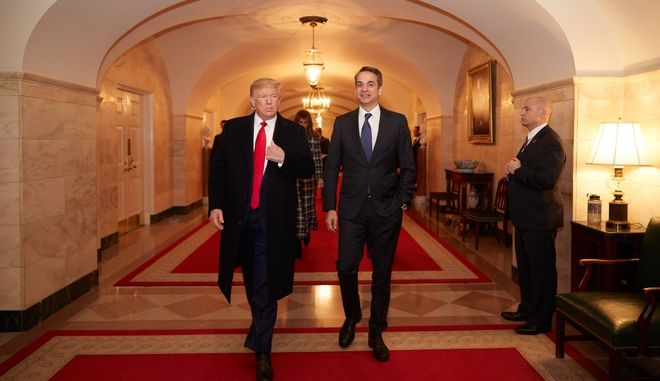 Ο Πρωθυπουργός Κυριάκος Μητσοτάκης  συναντηθηκε με τον πρόεδρο των ΗΠΑ Ντόναλντ Τραμπ στον Λευκό Οίκο.