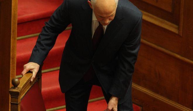Ο πρώην πρωθυπουργός Γιώργος Παπανδρέου