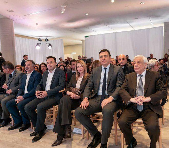 Ο Πρόεδρος της Δημοκρατίας, κύριος Προκόπης Παυλόπουλος με τον Υπουργό Υγείας, κύριο Βασίλη Κικίλια κατά τη διάρκεια της εκδήλωσης.