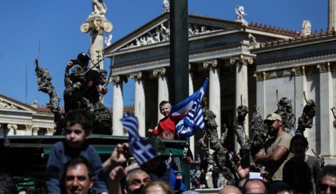 Military parade commemorating the National Day of March 25. Athens, March 25, 2017 /        25 . , 25 , 2017