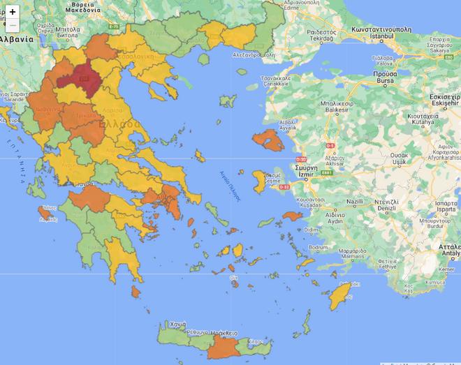 Κορονοϊός: Σε ποιες περιοχές ισχύουν τα νέα μέτρα και από πότε