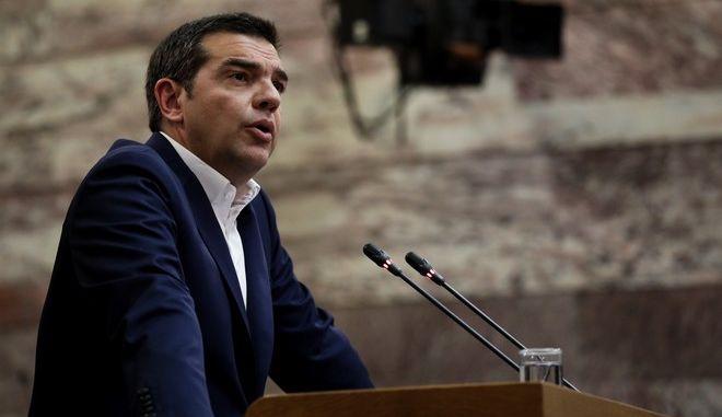 Ο Αλέξης Τσίπρας σε συνεδρίαση ΚΟ του ΣΥΡΙΖΑ
