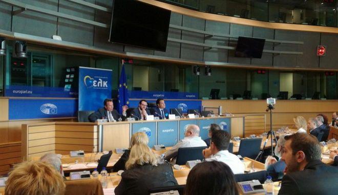 Ο Αδ. Γεωργιάδης στην εκδήλωση της ΟΝΝΕΔ στις Βρυξέλλες