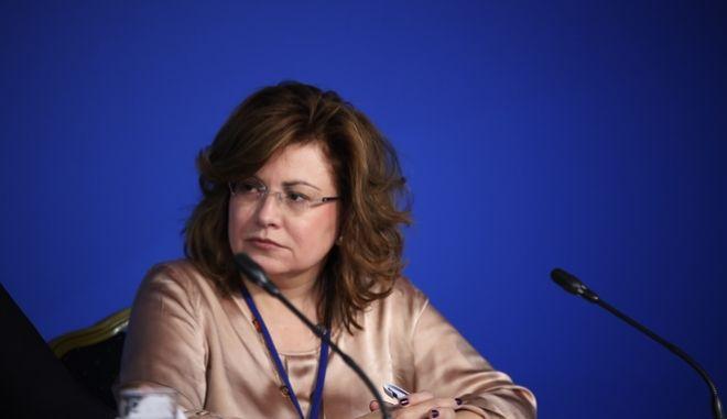 ΑΘΗΝΑ-Συνέντευξη Τύπου έδωσαν η Τομεάρχης Οικονομίας και Ανάπτυξης, βουλευτής ΑΚΌ Αθηνών, Ντόρα Μπακογιάννη, ο αναπληρωτής Τομεάρχης, βουλευτής Κορινθίας, Χρίστος Δήμας και η ευρωβουλευτής, Μαρία Σπυράκη,που πραγματοποιήθηκε στα Κεντρικά Γραφεία της ΝΔ ,με κεντρικό θέμα  η πορεία απορρόφησης των πόρων του ΕΣΠΑ.(Eurokinissi-ΣΤΕΛΙΟΣ ΜΙΣΙΝΑΣ)