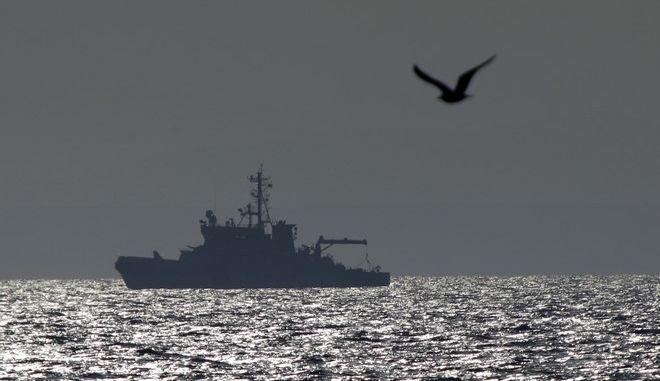 Πλοίο της Φινλανδίας περιπολεί με τις δυνάμεις της Frontex στο Αιγαίο τον Φεβρουάριο του 2016