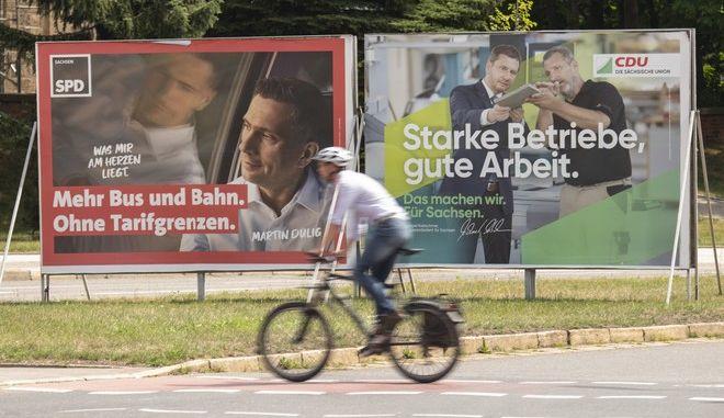 Εικόνα από την προεκλογική περίοδο στη Σαξονία