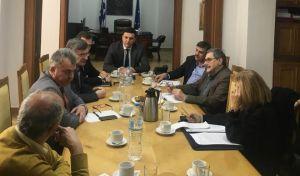 Από τη συνάντηση του Υπουργού Υγείας Βασίλη Κικίλια με εκπροσώπους των κομμάτων της αντιπολίτευσης.