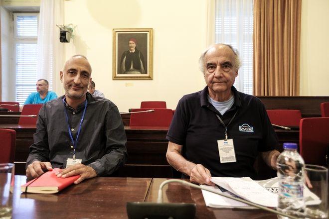 Ενημέρωση των μελών της Επιτροπής Οδικής Ασφάλειας της Βουλής από τους οδηγούς αγώνων και εκπαιδευτές οδικής συμπεριφοράς, Αναστάσιο Μαρκουΐζο (Ιαβέρης) και Κωνσταντίνο Μαρκουΐζο