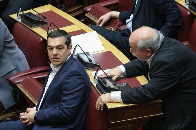 Γενική άποψη πριν την ειδική συνεδρίαση της ολομέλειας της Βουλής για την τελετή ορκωμοσίας της νέας Προέδρου της Δημοκρατίας Κατερίνας Σακελλαροπούλου, Παρασκευή 13 Μαρτίου 2020