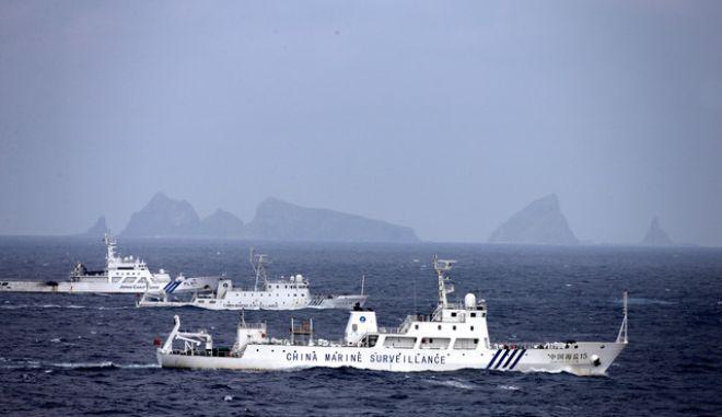Τρία κινεζικά πλοία εισήλθαν στα χωρικά ύδατα νησιών Σενκάκου