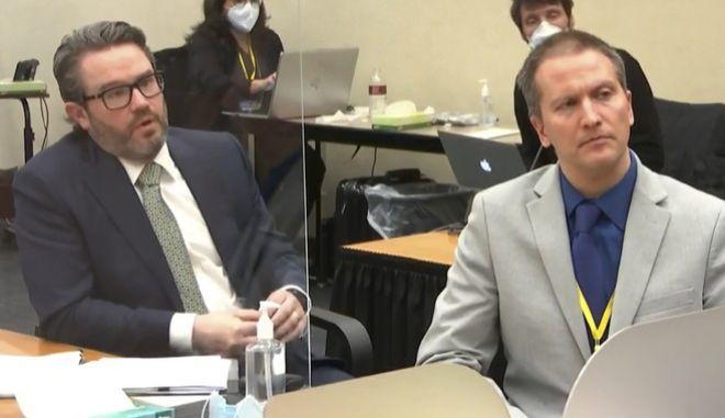 Ο Ντέρεκ Σόβιν, μαζί με τον δικηγόρο του, Έρικ Νέλσον