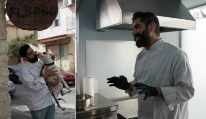 Επαγγελματίας σεφ, ο Βαγγέλης κατάλαβε γρήγορα πως η αγάπη του για ζώα είναι μεγαλύτερη από εκείνη για τους ανθρώπους