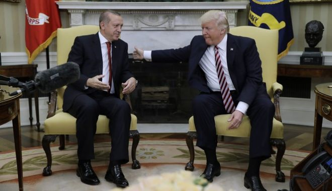 Φωτό αρχείου: Στιγμιότυπο από συνάντηση Τραμπ- Ερντογάν