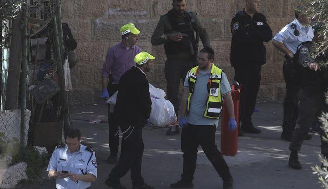 Φωτογραφία από την παλιά πόλη της Ιερουσαλήμ όπου σκοτώθηκε ο παλαιστίνιος από ισραηλινά πυρά.