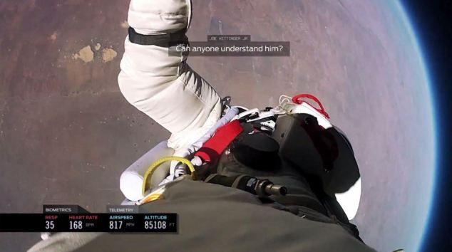 Βίντεο - ζάλη: To άλμα του Felix Baumgartner από το διάστημα σε πρώτο πρόσωπο