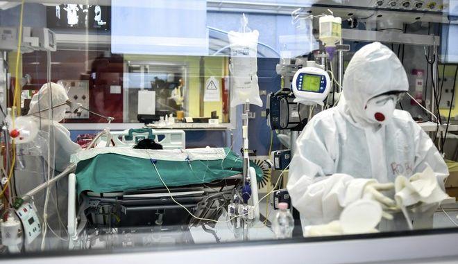 ΜΕΘ σε νοσοκομείο της Ιταλίας σε καιρό κορονοϊού