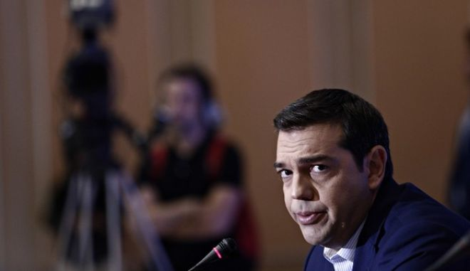 Greece's prime minister Alexis Tsipras, speaks at a press conference in Thessaloniki on Sep. 11, 2016 /     .    81     11 , 2016