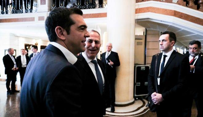 Ο Πρωθυπουργός Αλέξης Τσίπρας στην 55η Διάσκεψη Ασφαλείας του Μονάχου, το Σάββατο 16 Φεβρουαρίου 2019. (EUROKINISSI/ΓΡ. ΤΥΠΟΥ ΠΡΩΘΥΠΟΥΡΓΟΥ/ANDREA BONETTI)