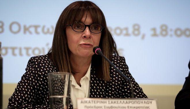 H υποψήφια Πρόεδρος της Δημοκρατίας, Αικατερίνη Σακελλαροπούλου