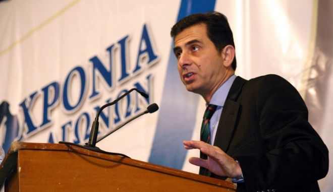 """Πραγματοποιήθηκε στους Αγίους Σαράντα της Νότιας Αλβανίας (Βορείου Ηπείρου) η 8η Συνδιάσκεψη της """"ΟΜΟΝΟΙΑΣ"""" (πολιτική οργάνωση της Ελληνικής Εθνικής Μειονότητας). Πρόεδρος της """"ΟΜΟΝΟΙΑΣ"""" επανεξελέγη ο Δήμαρχος Χειμάρας  Βασίλης Μπολάνος, ο οποίος ήταν και ο μοναδικός υποψήφιος. Στη φωτογραφία ο Κώστας Γκιουλέκας. (EUROKINISSI // ΣΥΝΕΡΓΑΤΗΣ)"""