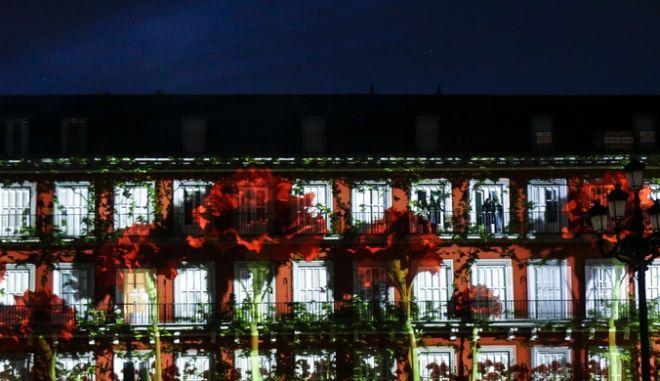 Αποψη από την Πλάθα Μαγιόρ της Μαδρίτης