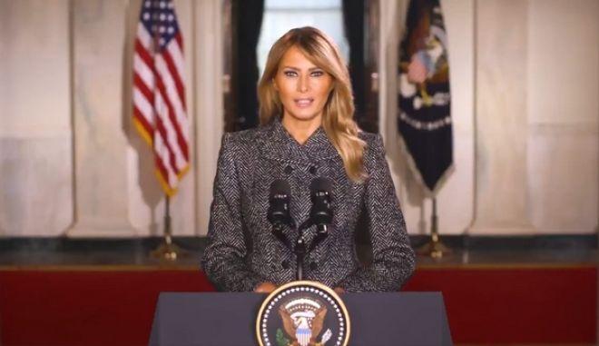 Η Μελάνια Τραμπ αποχαιρετά με ένα βίντεο τους Αμερικανούς