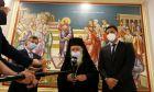 """Ο Βασίλης Κικίλιας και ο Σωτήρης Τσιόδρας στην Ιερά Σύνοδο. Με """"μεγάλο σεβασμό"""" όπως δήλωσε ο υπουργός Υγείας"""