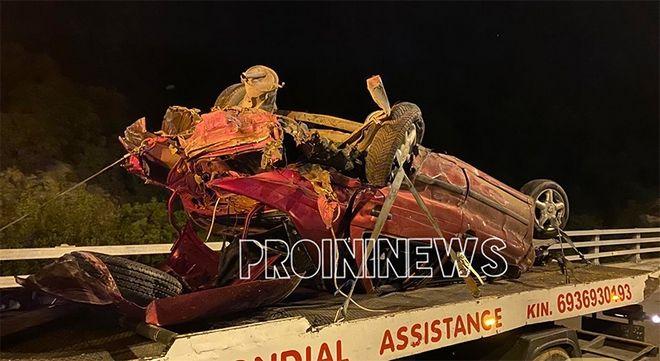 Καβάλα: Τροχαίο με μετανάστες - Ενας νεκρός, ένας σοβαρά τραυματίας