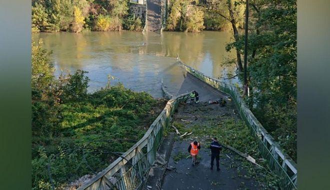 Κατάρρευση γέφυρας στη Γαλλία