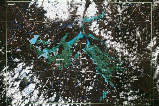 Αναλυτικότερη σκιαγράφηση των πλημμυρισμένων περιοχών