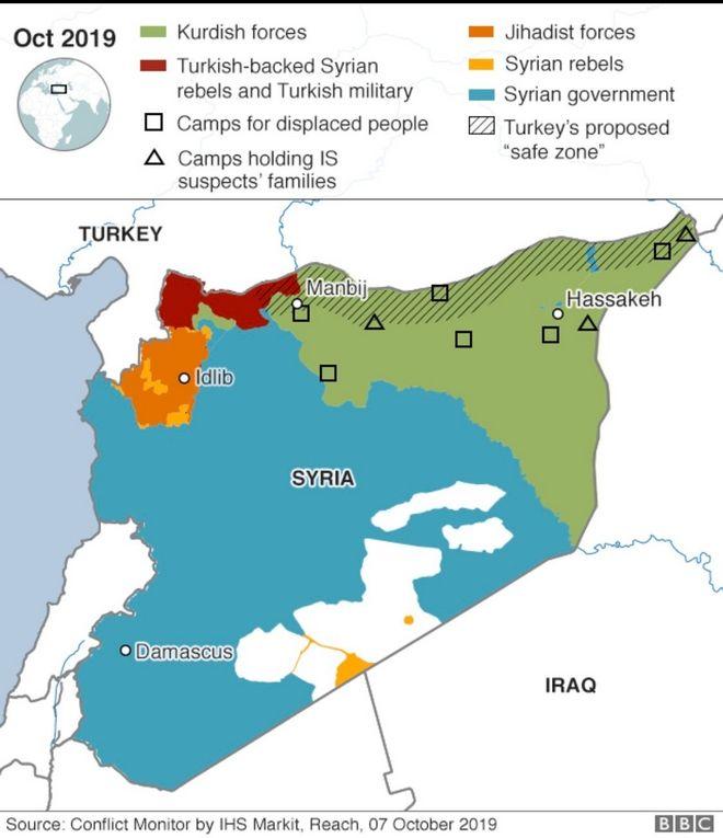Χάρτες: 5 απεικονίσεις του χάους στη Συρία - Φυλές, θρησκείες και κουρδικά εδάφη