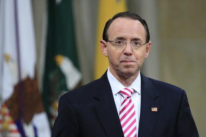 Ο αναπληρωτής Γενικός Εισαγγελέας των ΗΠΑ, Rod Rosenstein  (AP Photo/Manuel Balce Ceneta)
