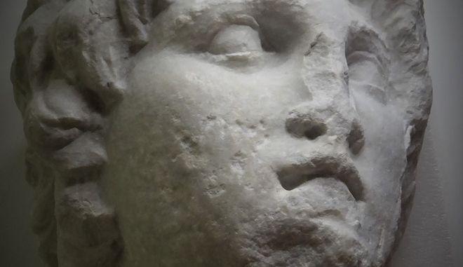 Βέροια: Στο φως άγνωστο υστεροελληνιστικό πορτρέτο του Μεγάλου Αλεξάνδρου