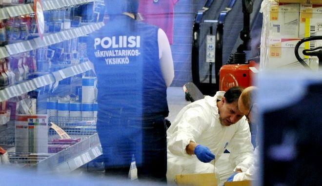 Φινλανδία, Πυροβολισμοί σε εμπορικό κέντρο