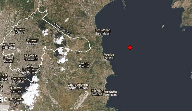 Σεισμός 3,8 Ρίχτερ στη Νέα Μάκρη - Αισθητός στην Αθήνα