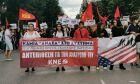 Διαμαρτυρία της ΚΝΕ για τη δολοφονία του Τζορτζ Φλόιντ