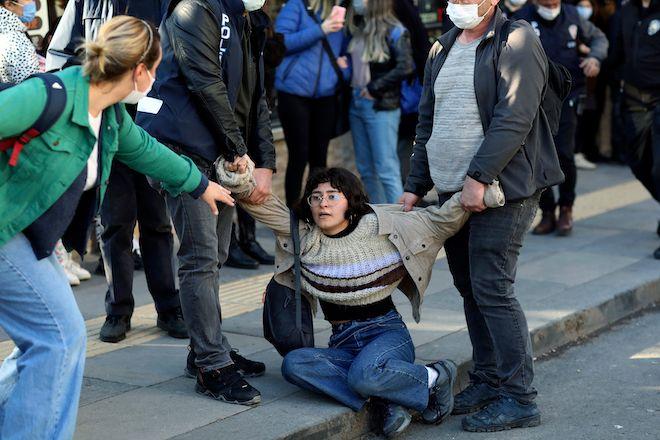 Διαμαρτυρία φοιτητών στο πανεπιστήμιο του Βοσπόρου Bogazici, 5 Φεβρουαρίου 2021