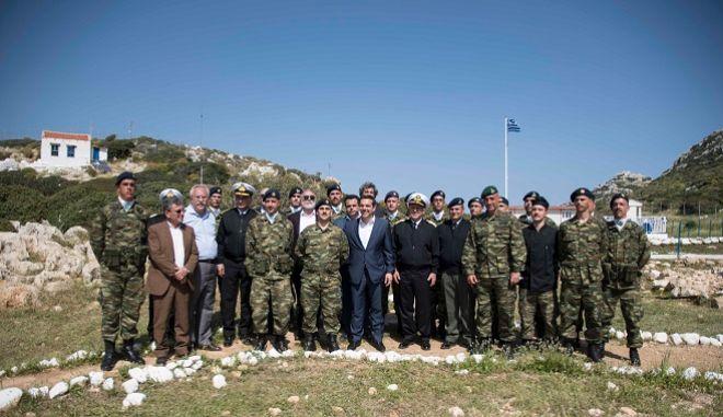 Ο πρωθυπουργός Αλέξης Τσίπρας στο Καστελόριζο