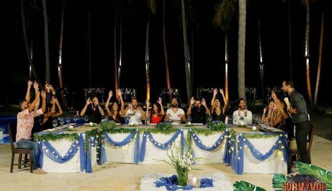 Στιγμιότυπο από το πάρτι της Ένωσης του Survivor από τον Άγιο Δομίνικο