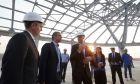 """Επίσκεψη Μητσοτάκη στα έργα επέκτασης του αεροδρομίου """"Μακεδονία"""""""