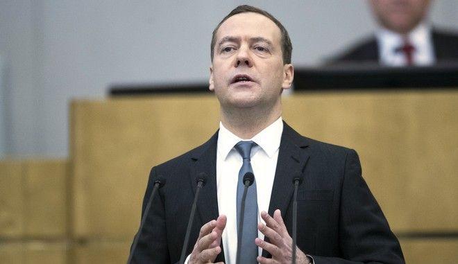 Ο πρώην Πρωθυπουργός της Ρωσίας Ντμίτρι Μεντβέντεφ)