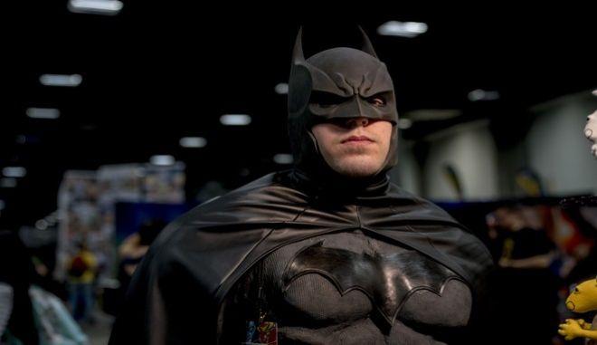 Άντρας με κοστούμι Batman