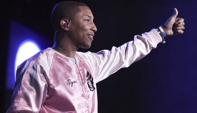 Pharrell Williams performs at To the Rescue! Los Angeles Human Society Benefit at Paramount Pictures Studios on Saturday, April 22, 2017, in Los Angeles. (Photo by Richard Shotwell/Invision/AP)